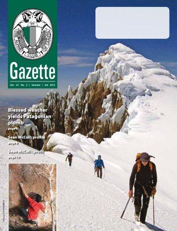 Gazette SUMMER 2012 - The Alpine Club of Canada