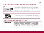 What is Behind the Quality of Victorinox Swiss Army Knives? How to ...