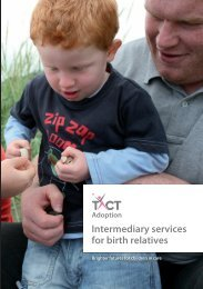 Information about intermediary services for birth relatives - TACT