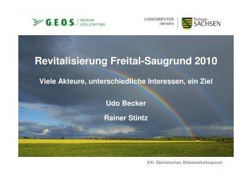 Revitalisierung Freital-Saugrund 2010 - GWZ Dresden