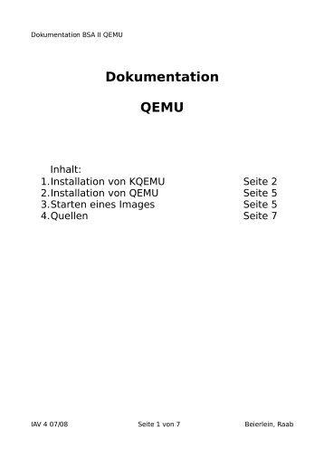 Dokumentation QEMU