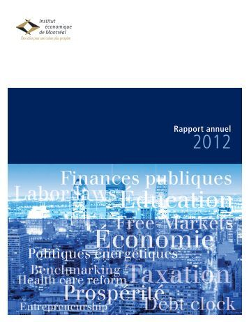 Rapport annuel 2012 - IEDM