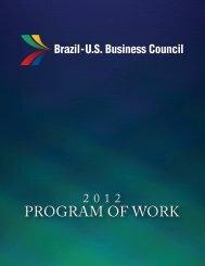 2012 Program of Work - Brazil-US Business Council