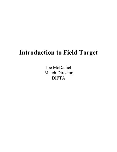 Introduction to Field Target
