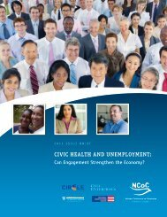 CIVIC HEALTH AND UNEMPLOYMENT: - Circle