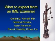What to expect from an IME Examiner - NSRP