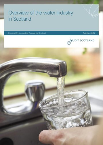 Overview of the water industry in Scotland (PDF ... - Audit Scotland