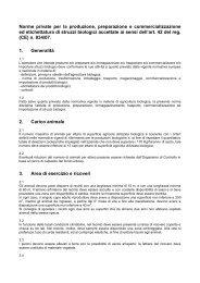 Norme private per la produzione, preparazione e ...