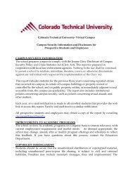 Colorado Technical University – Virtual Campus - CTU Online