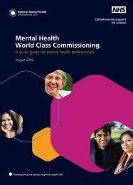Mental Health World Class Commissioning. - National Mental Health ...