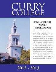 Financial Aid Award Information Guide 2012-2013 - Curry College