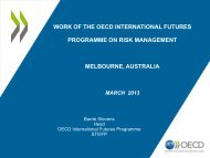 Futures Work at the OECD - Australia and New Zealand School of ...