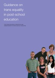 Guidance on trans equality in post-school education - UCU