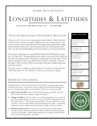 LONGITUDES & LATITUDES - Slippery Rock University