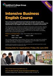 Intensive Business English Course - Study in the UK