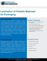 Lamination of Flexible Materials for Packaging DAY 1 - Seminars for ...