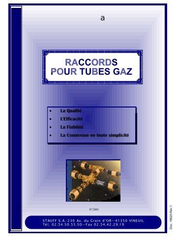 raccords gaz - STAUFF