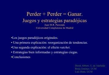 Perder + Perder = Ganar. Juegos y estrategias paradójicas - RiskLab