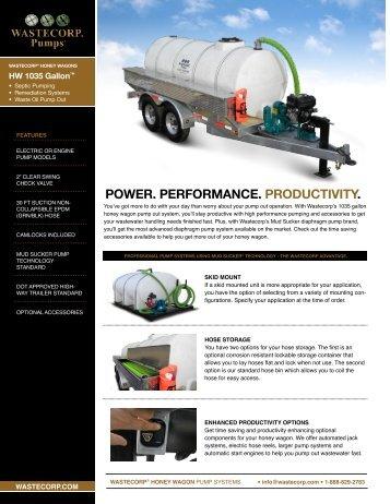 1035 Gallon Honey Wagon - Wastecorp Pumps