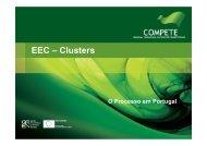 EEC – Clusters - O Novo Norte - Qren