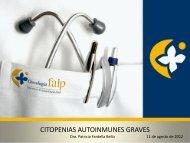 Citopenias Autoinmunes Graves