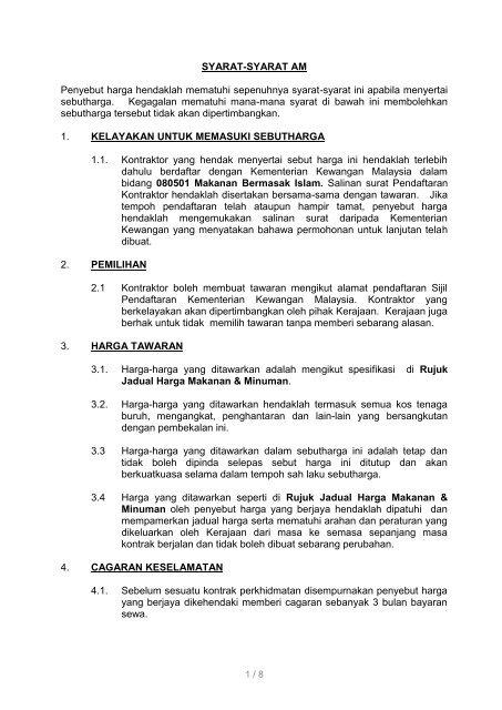 Fail Spesifikasi Sistem Tender Dokumen Dan Sebutharga Selangor