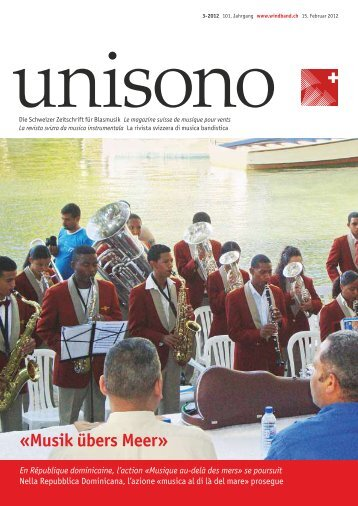 Die Aktion «Musik übers Meer - Schweizer Blasmusikverband