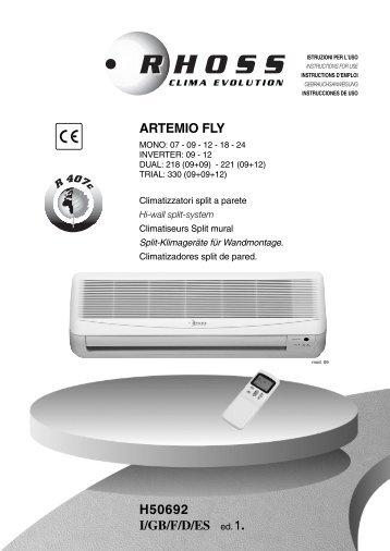 H50692-v01 Manuale Istruzioni Artemio Fly R407 - Rhoss