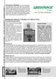 Infoblatt - Greenpeace-Gruppe Stuttgart