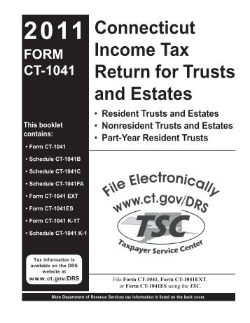 Ct 1041 Booklet Connecticut Income Tax Return For Trusts And
