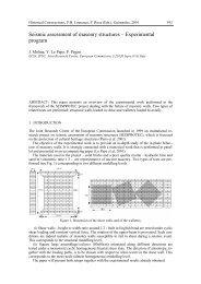 Seismic assessment of masonry structures – Experimental program