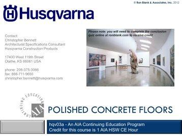 POLISHED CONCRETE FLOORS - Ron Blank & Associates, Inc.