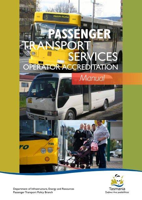 Operator Accreditation Manual - Transport