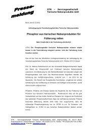 Phosphor aus tierischen Nebenprodukten für Fütterung retten - STN ...