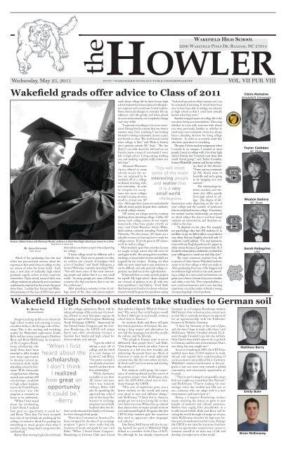 Senior Issue Wakefield High School