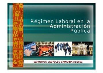26.10. Régimen Laboral en la Administración Pública. Dr. Leopoldo ...