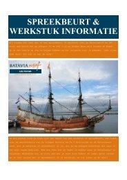 informatie voor werkstuk - Bataviawerf