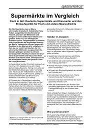 Supermärkte im Vergleich - Greenpeace-Gruppe Stuttgart