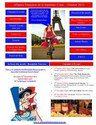 Alliance Française de la Sunshine Coast – October 2012 Newsletter