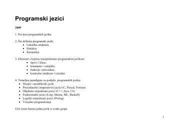 Proceduralni jezici - FESB