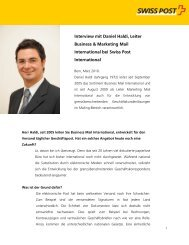 Interview mit Daniel Haldi, Business & Marketing Mail International ...