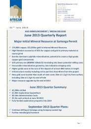 June Quarterly Activities Report - West African Resources