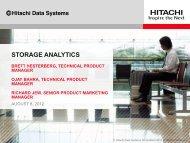 Storage Analytics - Hitachi Data Systems