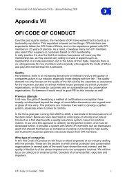 Appendix VII OFI CODE OF CONDUCT - Ornamental Fish International