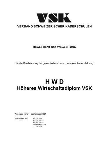 Höheres Wirtschaftsdiplom VSK - SHW