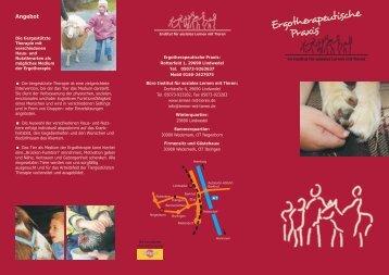 Flyer Ergotherapie - Institut für soziales Lernen mit Tieren
