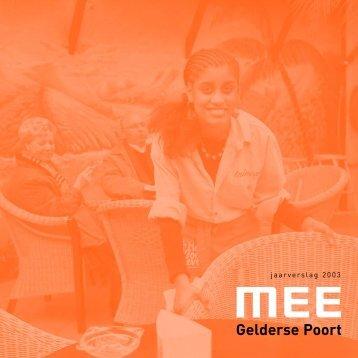 Jaarverslag 2003 (pdf) - MEE Gelderse Poort
