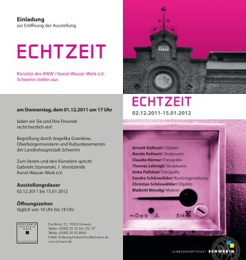 ECHTZEIT - Kunst-Wasser-Werk eV