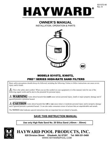 backwash pool filter instructions