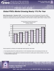 Global PSICs Market Growing Nearly 11% Per Year - VDC Research